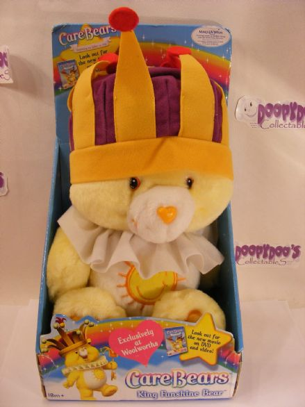 "BNIB 12"" KING FUNSHINE CAREBEAR CARE BEARS"